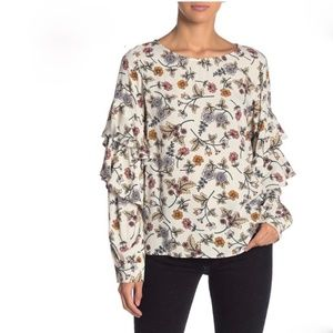 Sanctuary Tilly Ruffle Sleeve Harvest Bloom Top XS
